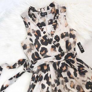 New! Allen B. By Allen Schwartz Leopard Dress